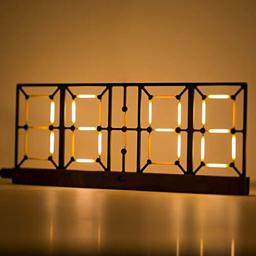 Reloj de pared digital LED con mando a distancia, USB 5 V