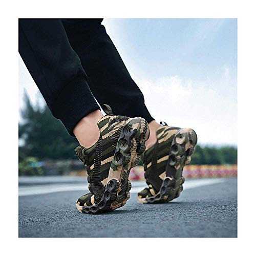 HaoLin New Women Men Fashion Sneakersbreathable Casual Shoes Army Green Trainers+ Insoles,Black-44