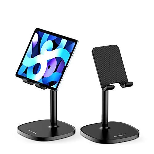 SmartDevil Tablet Ständer, Ergonomischer Tablet Halterung Bett, Verstellbar Handyhalterung Tisch, Handy Halter, Kompatibel mit iPad, Switch, Smartphone, Kindle, Tablet Halter für Videoanruf -Schwarz