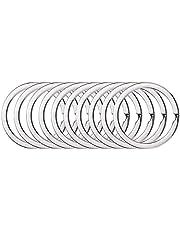 BSTHP Sleutelhangers, 10Packs Ronde metalen Split Ring voor Huishoudelijke Auto Sleutels Organisatie en Craft Making, Zilver 30mm
