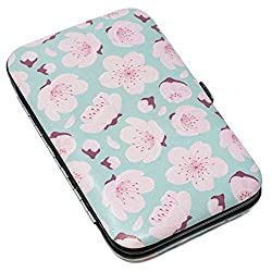 Pretty pink and aqua cherry blossom floral design soft padded carry case with clasp fastening Available in 2 designs - Cherry Blossom and Oh So Pretty Small size and lightweight making it convenient to carry, great for travel and daily life! Case Siz...