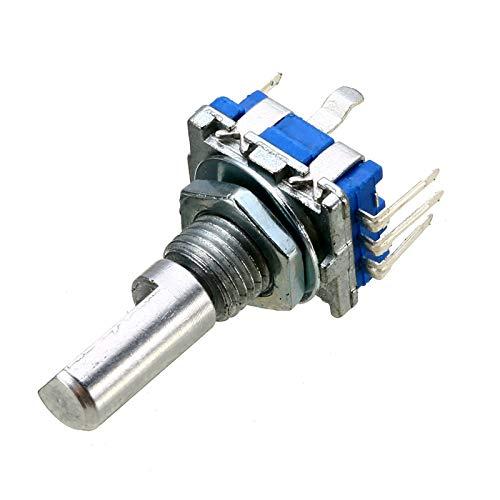 LAANYMEI Interruptores de Palanca 3X 5 Pines Codificador de codificación rotativo de 360 Grados con botón PUSHO 20 Posiciones Encoder electrónico Interruptores de Empuje de 6 mm Diámetro del Eje