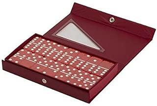 Red Double 6 Jumbo Size Red Domino Tiles in Snap Vinyl Case