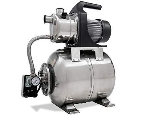 1000 Watt 19 Liter Edelstahlkessel Fördermenge 3 500 l/h 4 Bar Druck Hauswasserwerk Gartenpumpe Gartenbewässerung Starkwerk SW 1100 Inox