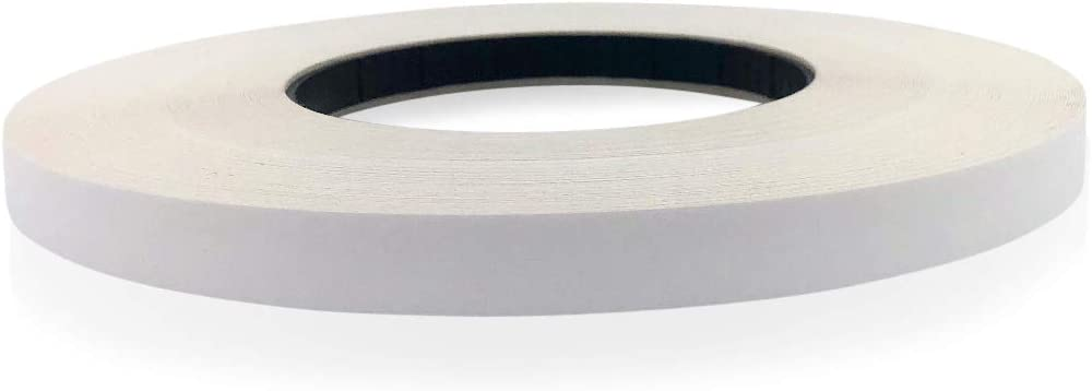 Edge Supply White Melamine 3/4 inch X 250 ft roll of White Edge Banding – Pre-glued Flexible Edging – Easy Application Iron-On Edging for Cabinet Repairs, Furniture Restoration