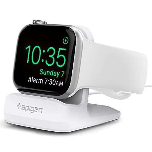 Spigen S350 Compatible con Apple Watch Stand para Todas Las Apple Watch 44mm/40mm Series 6/SE/5/4 y 38mm/42mm Series 3/2/1 - Blanco