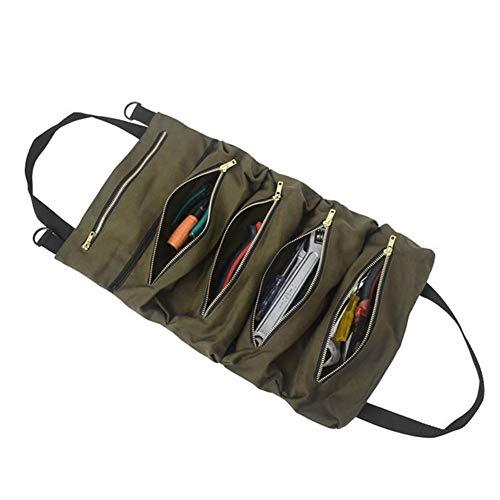 Shubiao Kit de almacenamiento multifuncional para coche, bolsa de viaje, bolsa de viaje, organizador de cremallera, plegable, bolsa de herramientas de mano