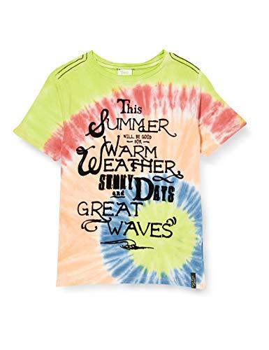 T-Shirt Jersey Tie And Dye Bambino Azzurra Miami Splash