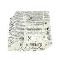 HUICHEN 500個/ロットワックスペーパー食品グレードグリース紙の食品包装機械包装紙のためにパンバーガーフライドポテトベーキングツールOilpaper ベーキング紙 (Color : English)