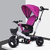 Dreirad, drehbarer Kindersitz 4-in-1-Mehrzweck-Dreirad-Sonnenschutz, Titanium-Leerrad for das...