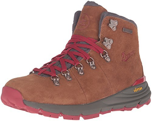 "Danner Women's 62245 Mountain 600 4.5"" Waterproof Hiking Boot, Brown/Red - 9.5 M"