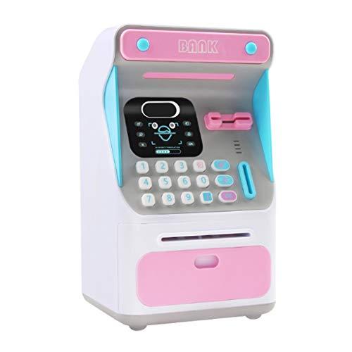 xiaoli Hucha Electrónica Piggy Bank ATM contraseña Dinero en Efectivo Monedas Caja Fuerte Ahorro de Billetes de Dinero Banco Caja automática Banco de Dinero (Color : Pink)
