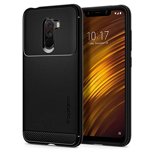 Spigen Rugged Armor Designed for Xiaomi POCOPHONE F1 Case (2018) - Matte Black