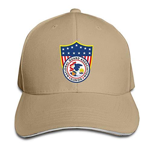 National Guard Association of Illinois Baseball Caps Sandwich Caps