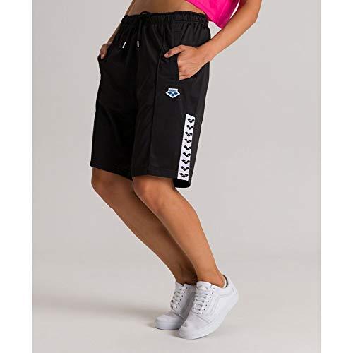 ARENA Unisex – Erwachsene Herren Bermuda Team Sport, Black-White-Black, XS