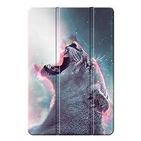 Agger iPad 10.2 2019/iPad ケース,耐衝撃性 PC + PUレザー 落下抵抗 三つ折 傷防止 三段角度調節 スマートカバー iPad 10.2 2019/iPad Case-動物 18