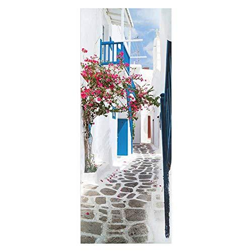 Adhesivos para Puertas calcomanías de Papel Tapiz 3D PVC extraíble Azulejos Blancos Interior habitación Infantil Oficina