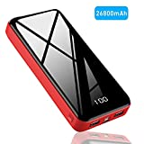 Goopek Batterie Externe 26800mAh, Haute Capacité Power Bank Portable Chargeur avec 2 USB Ports Batterie Affichage Numérique Intelligent de LCD Max 2.1A Batterie de Secours pour Smartphones Tablettes