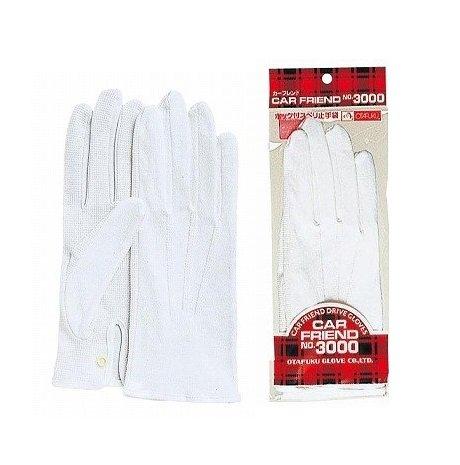 おたふく手袋/スベリ止付綿手袋 カーフレンドセームNo.3000(ホック付)[12双入]/品番:3000