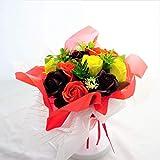 BIOフレグランスソープフラワー ミスティーローズブーケ ローズ12輪 商品 クリアバック・ギフトボックス付 お祝い 記念日 お見舞い 母の日 ブライダル パーティー プレゼント (パッションオレンジ)