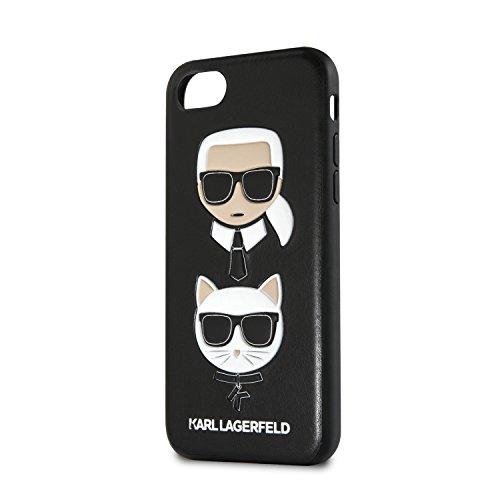 Karl Lagerfeld Karl and Choupette Cover Schutzhülle für iPhone 8 Plus /7Plus schwarz