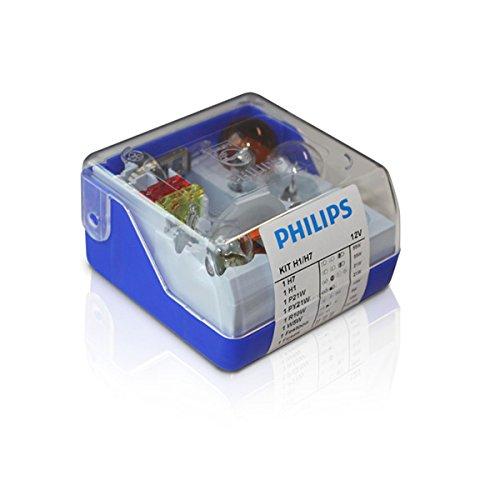 Philips 55010SKKM - Juego de bombillas de repuesto (H1 y H7)