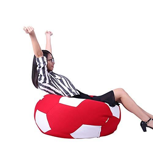 XF Lazy Sofa Football Casual Simple Silla para niños Libro de Lectura Lindo Tela Desmontable con una Sola Silla, 66X66X45cm Mobiliario Relleno de Espuma (Color : B)