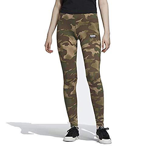 adidas Damen Originals 3-Streifen Legging - Grün - Mittel