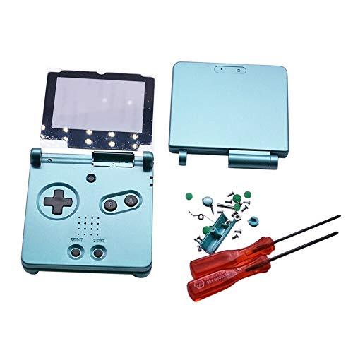 Henghx Ersatz Voll Gehäuse Shell Cover Hülle Teile Set w/Objektiv&Schraubendreher für Nintendo Gameboy Advance SP GBA SP Console