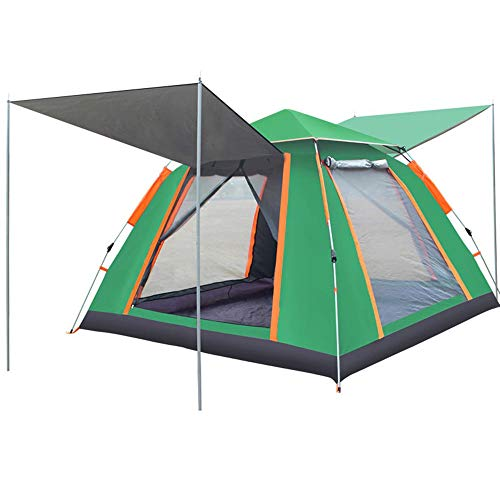 Automatisch opzetten camping tent 3-4 personen grote ruimte verdikte regen dubbele zijden ademend warm kan luifel geschikt voor familie picknick wandelen