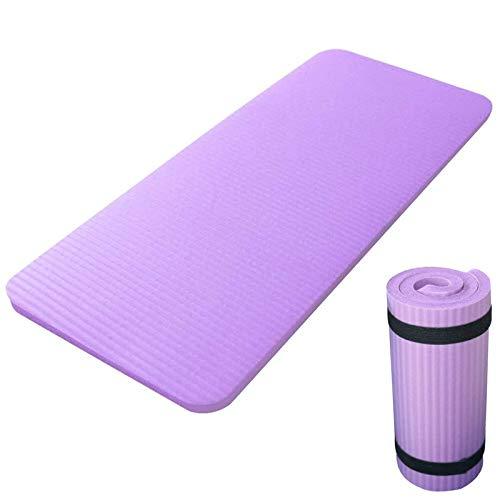 weichuang Esterilla de yoga de 60 x 25 x 1,5 cm, almohadilla para rueda abdominal, soporte plano, para codos, yoga, gimnasia, plegable, color morado