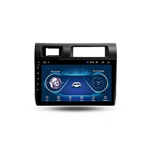 Foof Autoradio Coche Bluetooth 2 DIN Android Radio De Coche 9'' Pantalla Táctil WiFi Plug and Play Completo RCA Soporte Carautoplay/GPS/Dab+/OBDII para Toyota Land Cruiser LC 70,Quad Core,WiFi 1G+16G