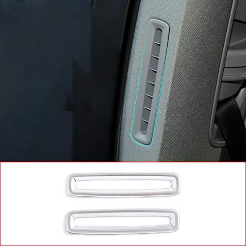 DIYUCAR ABS cromado interior de la columna B de aire acondicionado salida de ventilación tiras decorativas para Panamera 2010-2020