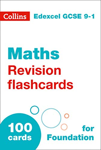 NEW 9-1 GCSE Maths Foundation Edexcel Revision Question Cards (Collins GCSE 9-1 Revision Flashcards) (English Edition)