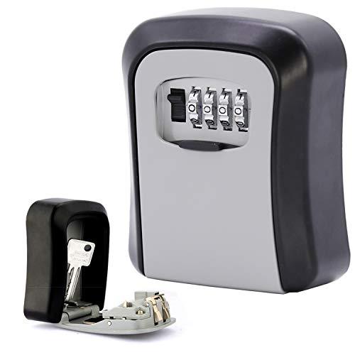 wolketon Schlüsseltresor, Schlüsselsafe mit Zahlencode, Schlüsselbox für Ersatzschlüssel, Schlüsselkasten