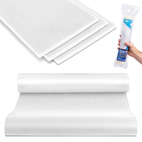 Haga Fridge Liners Set | Refrigerator Liners | Non Adhesive Clear Mats | Washable Liner for Shelves, Drawers and Organizers | Fridge Shelf Mats