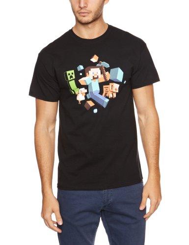 Minecraft T-Shirt Run Away, Größe M