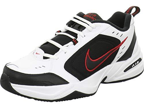 Nike Air Monarch IV Trainingsschuh für Herren, Weiß (Weiß/Schwarz-Varianten Rot), 44.5 EU