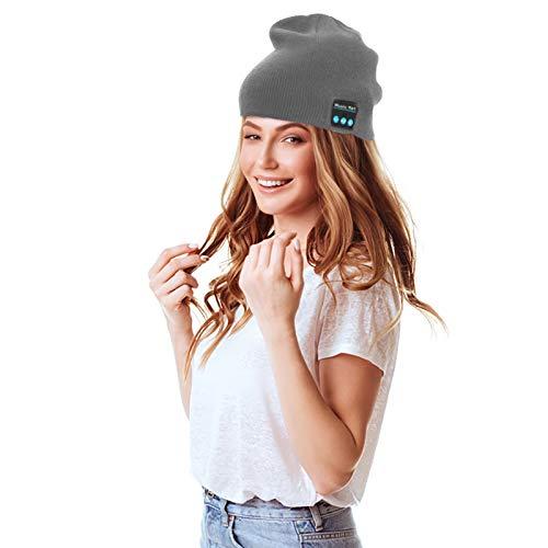 SANWOOD Men Women Upgraded Wireless Bluetooth 5.0 Headphones Beanie Hat...
