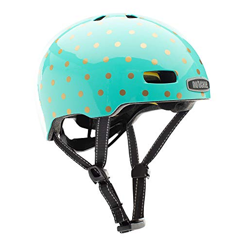 Nutcase Kinder Fahrradhelm Little Nutty MIPS Gloss, Sock Hop, 48-52 cm, 10001