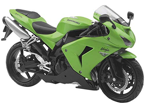 New Ray Toys Street Bike 1:12 Scale Motorcycle - ZX10R Green 2006 42447A