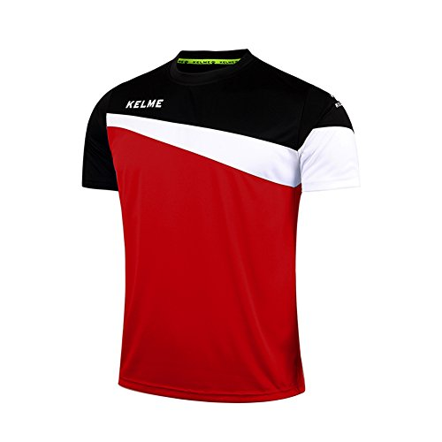 KELME – Camiseta de fútbol para Hombre – Camiseta de Entrenamiento Deportivo, Rojo/Negro, M
