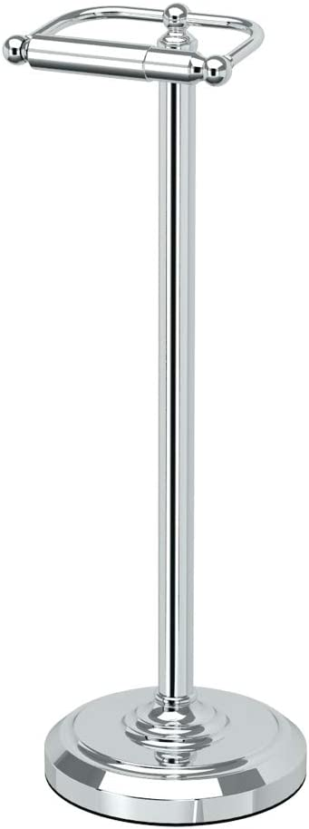 Gatco 1436C Pedestal Toilet Paper Holder, Chrome