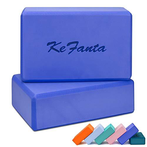 KeFanta Yoga Block 2 Pack,Non-Slip Soft Surface High Density EVA Foam Yoga Bricks Improve Strength,Aid Balance,Flexibility,Support and Deepen Poses for Yoga,Pilates,Meditation