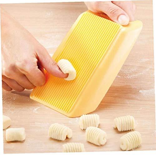 Angoter Kunststoff-Nudelmaschine Makkaroni Brett Spaghetti Pasta Gnocchi-Maschine Cutter Rolling Pin-Küche-Werkzeug Zu Moulds