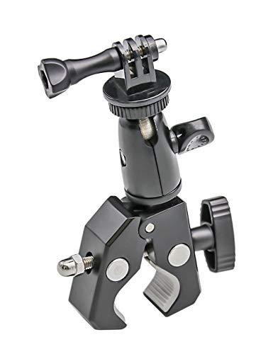 """EXSHOW Motorrad Fahrrad Lenker Halterung für GoPro, Kamera Motorradhalterung mit 1/4\"""" 20, Motorcycle Metall Lenkerhalterung für GoPro Hero 9 8 7 6 5 4 3+ 3 2 1, Canon, Nikon, Sony und andere Kameras"""