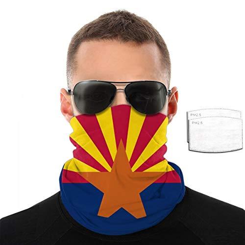 Arizona Az State Flag Pm2.5 Filter Neck Gaiter Reusable Washable Face Dust Mask Bandana Half Bavaclava Headband Shield Scarf Fishing Print Pattern