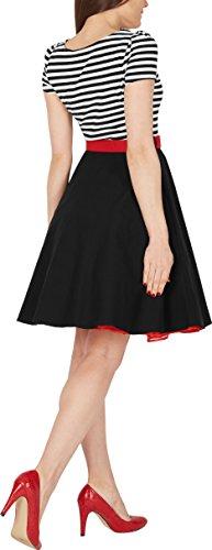 BlackButterfly 'Maria' Vintage Gestreift Pin-up-Kleid - 3