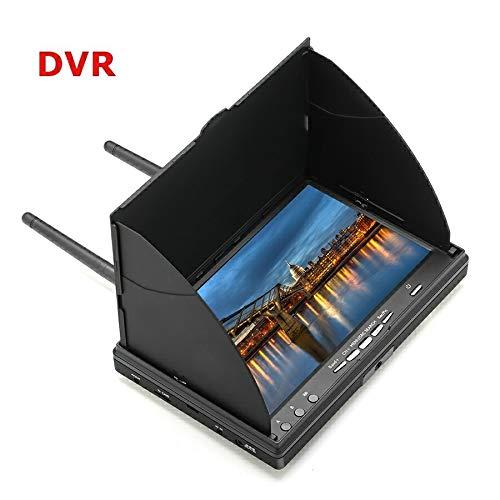 Redcolourful LCD5802D 5802 5.8G 40CH 7-Zoll-FPV-Monitor mit eingebautem DVR-Akku Videobildschirm Antenne AV-Kabel Ladegerätsatz Mit DVR Europäische Vorschriften