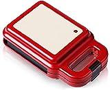 Tostadora Multifuncional y Sandwichera Sándwich y Waffle Maker 2-en-1 Intercambiables y Desmontables sin paletas de Relleno Profundo 600W Control automático de la Temperatura (Color : Default)